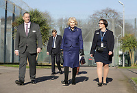 06/02/2020 - Camilla Duchess of Cornwall walks with governor Natasha Wilson, during a visit to Her Majesty's HM Prison Downview in Sutton, south London. During the visit to the women's prison Thursday, the Duchess met staff and inmates and learnt about the prison's rehabilitation programmes. Photo Credit: ALPR/AdMedia