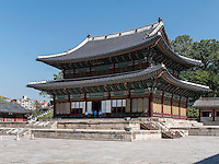 Thronhalle Injeongjeon im Changdeokgung Palast, Seoul, S&uuml;dkorea, Asien, UNESCO-Weltkulturerbe<br /> throne hall Injeongjeon in palace Changdeokgung,  Seoul, South Korea, Asia UNESCO world-heritage