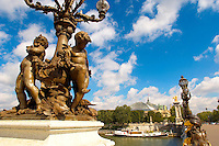 Paris - France - Pont Alexadre 111 - Statue
