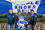 Donnie Callahan, Kitty O'Connor, John Finnegan and Sheila Callahan pictured last Sunday  in Killmallock for the AIB GAA Football All Ireland Junior Club Championship.