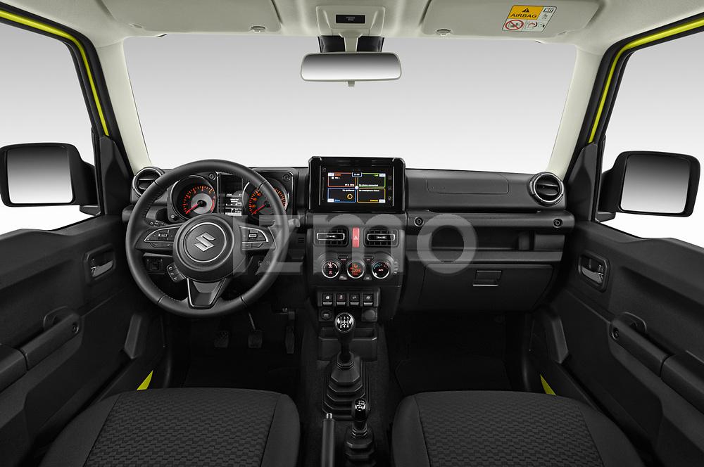 Stock photo of straight dashboard view of 2019 Suzuki Jimny GLX 5 Door SUV Dashboard