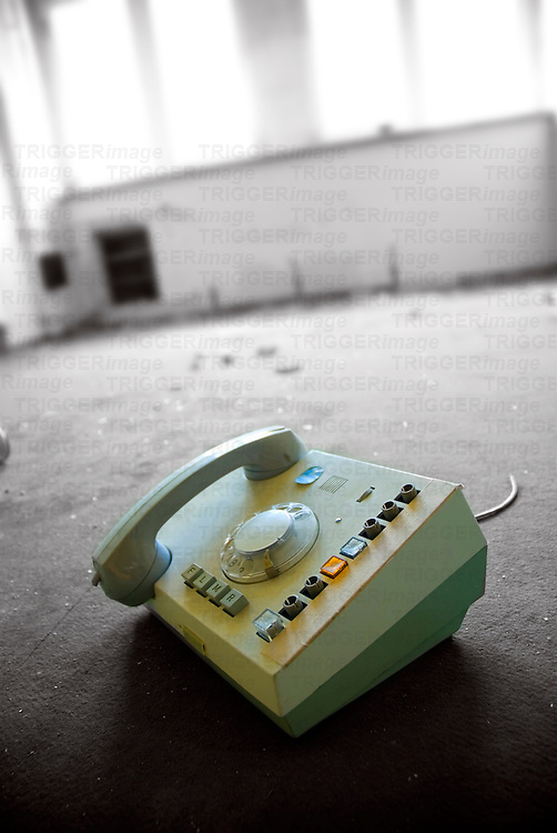 An old DDR telephone in a Stassi office (East German secret police)