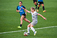Kansas City, MO - Thursday August 10, 2017: Lo'eau Labonta, Mccall Zerboni during a regular season National Women's Soccer League (NWSL) match between FC Kansas City and the North Carolina Courage at Children's Mercy Victory Field.