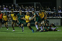 Jordan Burns of Ealing Trailfinders during the Greene King IPA Championship match between Ealing Trailfinders and London Irish Rugby Football Club  at Castle Bar, West Ealing, England  on 1 September 2018. Photo by David Horn.