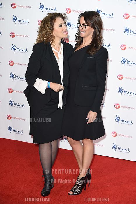 Nadia Sawalha &amp; Andrea McLean at the Virgin Money Giving Mind Media Awards at the Odeon Leicester Square, London, UK. <br /> 13 November  2017<br /> Picture: Steve Vas/Featureflash/SilverHub 0208 004 5359 sales@silverhubmedia.com