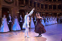 0802020436a Dress rehearsal of the 13th Budapest Opera Ball held at Opera House involving 50 couples of debutantes performing the opening waltz. Budapest, Hungary. Saturday, 02. February 2008. ATTILA VOLGYI