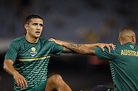 MELBOURNE, 11 JUNE 2013 - Tim CAHILL of Australia warms up for a Round 4 FIFA 2014 World Cup qualifier match between Australia and Jordan at Etihad Stadium, Melbourne, Australia. Photo Sydney Low for Zumapress Inc. Please visit zumapress.com for editorial licensing. *This image is NOT FOR SALE via this web site.