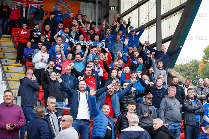 22.09.2019 St Johnstone v Rangers: Rangers fans