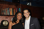 "Audra McDonald stars as ""Bess"" in The Gershwins' Porgy and Bess and poses with fiance Will Swenson on Opening Night - January 12, 1212 at the Richard Rogers Theatre, New York City, New York.  (Photo by Sue Coflin/Max Photos)"