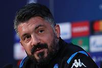 Gennaro Gattuso coach of Napoli during the press conference<br /> Castel Volturno 24-02-2020  <br /> Football Champions League 2019/2020 - Round 16, 1st leg<br /> SSC Napoli - FC Barcelona<br /> Photo Cesare Purini / Insidefoto