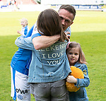 St Johnstone v Ross County&hellip;12.05.18&hellip;  McDiarmid Park    SPFL<br />Chris Millar hugs daughters Sophia and Ellie<br />Picture by Graeme Hart. <br />Copyright Perthshire Picture Agency<br />Tel: 01738 623350  Mobile: 07990 594431
