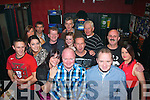 Donnchadh Dermondy, Killorglin (front centre) had a cracking night celebrating his 40th birthday with his fiancee Teresa O'Sullivan, family and friends in Turners bar, Tralee last Saturday.