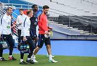 Goalkeeper Hugo Lloris (right) (Tottenham Hotspur) of France during the France National Team Training session ahead of the match with England tomorrow evening at Stade de France, Paris, France on 12 June 2017. Photo by David Horn / PRiME Media Images.