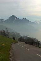 Lake and mountains Stätter See. Bouchs, Beckenried. Luzern area, Switzerland.
