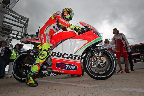 18 05 2012  18 05 2012 Le Mans FRA MotoGP MotoGP The picture shows  Valentino Rossi Ducati team