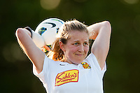 Western New York Flash defender Alex Sahlen (2). The Western New York Flash defeated Sky Blue FC 3-0 during a National Women's Soccer League (NWSL) match at Yurcak Field in Piscataway, NJ, on June 8, 2013.