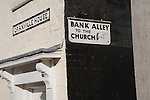 Back alley sign, Southwold, Suffolk, England
