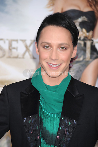 Johnny Weir at the film premiere of 'Sex and the City 2' at Radio City Music Hall in New York City. May 24, 2010.Credit: Dennis Van Tine/MediaPunch