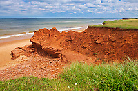Red sandstone cliffs along the Gulf of St. Lawrence.<br />