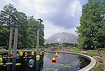 View of the Climatron at the Missouri Botanical Gardens in St. Louis, MO, USA