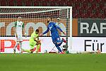 Torjubel von Munas Dabbur #10 (TSG 1899 Hoffenheim) zum 0:1, enttaeuschung bei  Ruben Vargas #16 (FC Augsburg), Andreas Luthe #1 (FC Augsburg), Stephan Lichtsteiner #2 (FC Augsburg), FC Augsburg vs. TSG 1899 Hoffenheim, 17.06.2020,<br /> <br /> Foto: Christian Kolbert/kolbert-press/pool/PIX-Sportfotos<br /> <br /> - DFL regulations prohibit any use of photographs as image sequences and/or quasi-video<br /> - Editorial Use ONLY<br /> - National and International News Agencies OUT