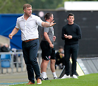 Oxford United Manager Karl Robinson cuts a frustrated figure during the second half<br /> <br /> Photographer David Shipman/CameraSport<br /> <br /> The EFL Sky Bet League One - Oxford United v Fleetwood Town - Saturday August 11th 2018 - Kassam Stadium - Oxford<br /> <br /> World Copyright &copy; 2018 CameraSport. All rights reserved. 43 Linden Ave. Countesthorpe. Leicester. England. LE8 5PG - Tel: +44 (0) 116 277 4147 - admin@camerasport.com - www.camerasport.com