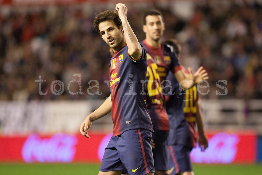 """Cesc Fabregas showing his tattoo """"Hayete D Hal abad"""", arabic phrase that means """"My Love D Forever"""""""
