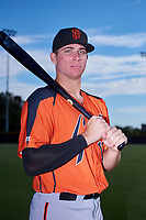 AZL Giants Orange first baseman Connor Cannon (13) poses for a photo before an Arizona League game against the AZL Giants Black on July 19, 2019 at the San Francisco Giants Baseball Complex in Scottsdale, Arizona. The AZL Giants Black defeated the AZL Giants Orange 8-5. (Zachary Lucy/Four Seam Images)