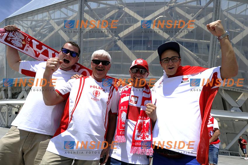 Supporters Poland Tifosi<br /> Nice 12-06-2016 Stade de Nice Football Euro2016 Poland - Northern Ireland / Polonia - Irlanda del Nord Group Stage Group C. Foto Pennant / Panoramic / Insidefoto