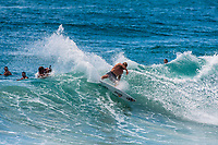 Coolangatta, Queensland (Monday, February 18, 2019) Mick Fanning (AUS) - Cyclone Oma is pushing a South East swell into the Gold Coast with waves on the points and D-Bah. Mid tide D-Bah was the spot this morning with a an A-Frame peak at the Lovers end providing plenty of action. Mick Fanning (AUS), Joel Parkinson  (AUS), Seth Moniz (HAW) and Jack Freestone (AUS) were the standouts. Photo: joliphotos.com