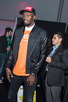 LAS VEGAS, NV - JANUARY 9: Usain Bolt at the Gibson Tent at CES 2018 in Las Vegas, Nevada on January 9, 2018. <br /> CAP/MPI/DAM<br /> &copy;DAM/MPI/Capital Pictures