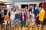 Bridie Gilligan seated front centre from Lower Corobeg, Valentia Island celebrated her 80 birthday with family and friends in the Ring Lyne, Chapletown on Friday night.