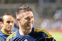 CARSON, CA - November 3, 2011: LA Galaxy forward Robbie Keane (14) during the match between LA Galaxy and NY Red Bulls at the Home Depot Center in Carson, California. Final score LA Galaxy 2, NY Red Bulls 1.
