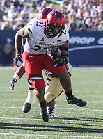 Annapolis, MD - September 23, 2017: Cincinnati Bearcats running back Gerrid Doaks (23) scores a touchdown during the game between Cincinnati and Navy at  Navy-Marine Corps Memorial Stadium in Annapolis, MD.   (Photo by Elliott Brown/Media Images International)