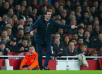 Arsenal's manager Unai Emery during the UEFA Europa League match between Arsenal and Rennes at the Emirates Stadium, London, England on 14 March 2019. Photo by Andrew Aleksiejczuk / PRiME Media Images.