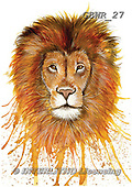 Simon, REALISTIC ANIMALS, REALISTISCHE TIERE, ANIMALES REALISTICOS, paintings+++++KatherineW_SplatterLion,GBWR27,#a#, EVERYDAY