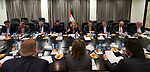 Advisor to Palestinian Prime Minister Khairia Rasas chairs a meeting in the West Bank city of Ramallah, on February 28, 2018. Photo by Prime Minister Office