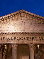 Pantheon at night, Rome, Italy.
