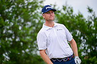 Trey Mullinax (USA) watches his tee shot on 18 during round 2 of the Valero Texas Open, AT&amp;T Oaks Course, TPC San Antonio, San Antonio, Texas, USA. 4/21/2017.<br /> Picture: Golffile | Ken Murray<br /> <br /> <br /> All photo usage must carry mandatory copyright credit (&copy; Golffile | Ken Murray)