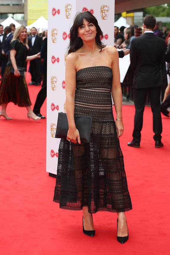 Claudia Winkleman<br />  arriving at the Bafta Tv awards 2017. Royal Festival Hall,London  <br /> ©Ash Knotek