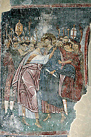 Juda Betrayal,fresco,old narthex,Milesheva  Monastery of Ascension of the Lord , 1234-1235