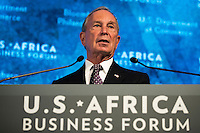 Former New York City mayor Michael Bloomberg speaks at the U.S.-Africa Business Forum at the Plaza Hotel, September 21, 2016 in New York City. The forum is focused on trade and investment opportunities on the African continent for African heads of government and American business leaders. Photo Credit: Drew Angerer/CNP/AdMedia