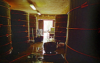 The Tibor Gal (GIA) winery in Eger (famous for Egri Bikaver): the winery with large wooden fermentation vats. Tibor Gal is one of the leading growers and wine makers in Eger. The company was founded in 1993 in collaboration with Nicolo Incisa della Rochetta (Sassicaia, Italy) and Alpine from Germany