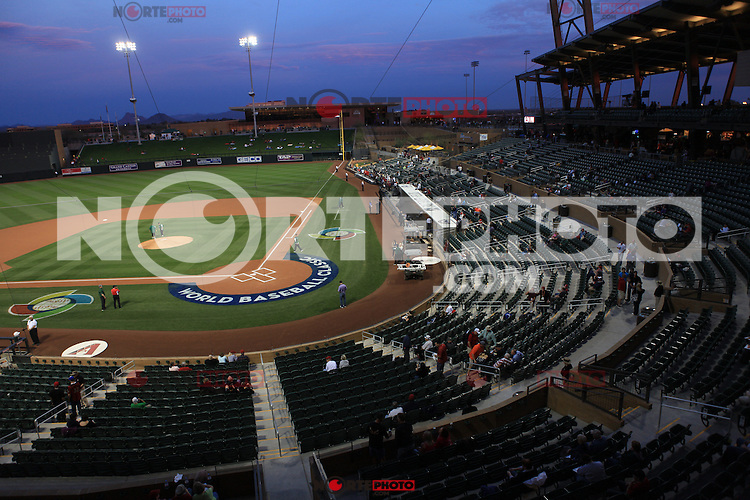2013 World Baseball Classic, Salt River Field Stadium in Scottsdale, Arizona, March 5, 2013.