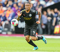 Gabriel Jesus of Manchester City during the Premier League match between West Ham United and Manchester City at the London Stadium, London, England on 10 August 2019. Photo by David Horn.
