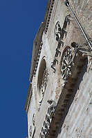 Detail of the facade of the Renaissance church in the Umbrian city of Foligno