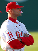 Manager Gabe Kapler  of the Greenville Drive in a game against the Columbus Catfish Monday, April 9, 2007, in Greenville, South Carolina. Kapler is a former player for the Boston Red Sox. (Tom Priddy/Four Seam Images)
