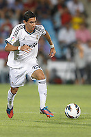 26.08.2012 SPAIN -  La Liga 12/13 Matchday 2th  match played between Getafe C.F. vs Real Madrid CF (0-0) at Alfonso Perez stadium. The picture show Angel di Maria (Argentine midfielder of Real Madrid)