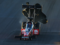 Feb 21, 2014; Chandler, AZ, USA; NHRA top fuel dragster driver David Grubnic during qualifying for the Carquest Auto Parts Nationals at Wild Horse Pass Motorsports Park. Mandatory Credit: Mark J. Rebilas-USA TODAY Sports
