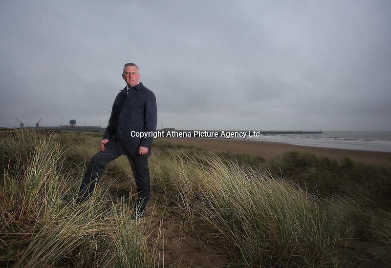 Ioan Jenkins, Development Director of Tidal Lagoon, overlooking Swansea Bay, Wales, UK. Monday 20 March 2017